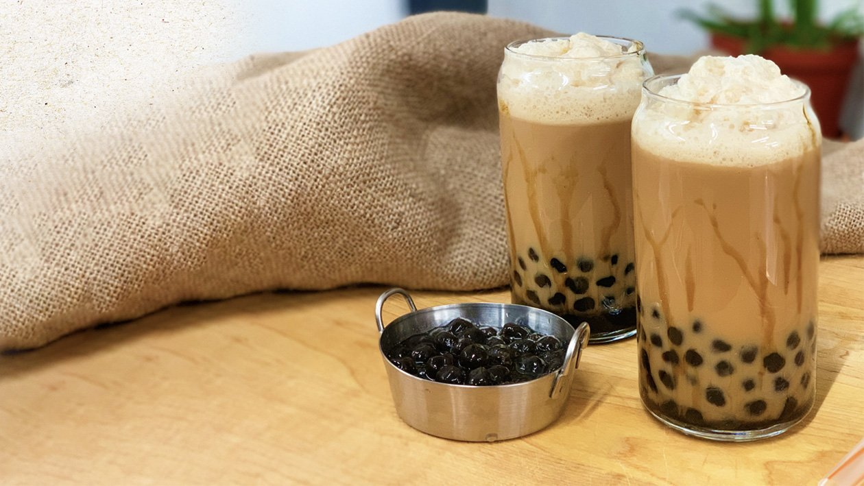 Milk Tea with Black Pearls