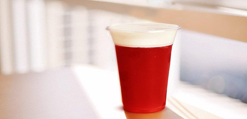 Pink Berry Cold Tea with Milk Cap Recipe