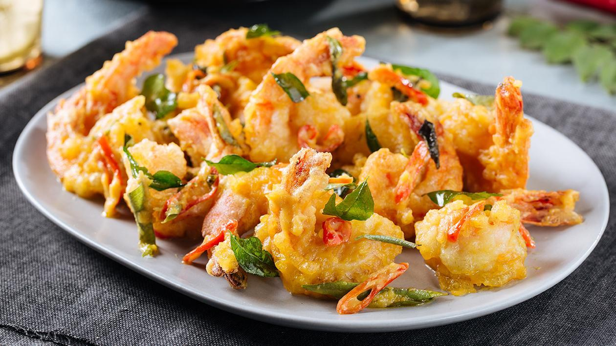 Salted Egg Prawns Unilever Food Solutions