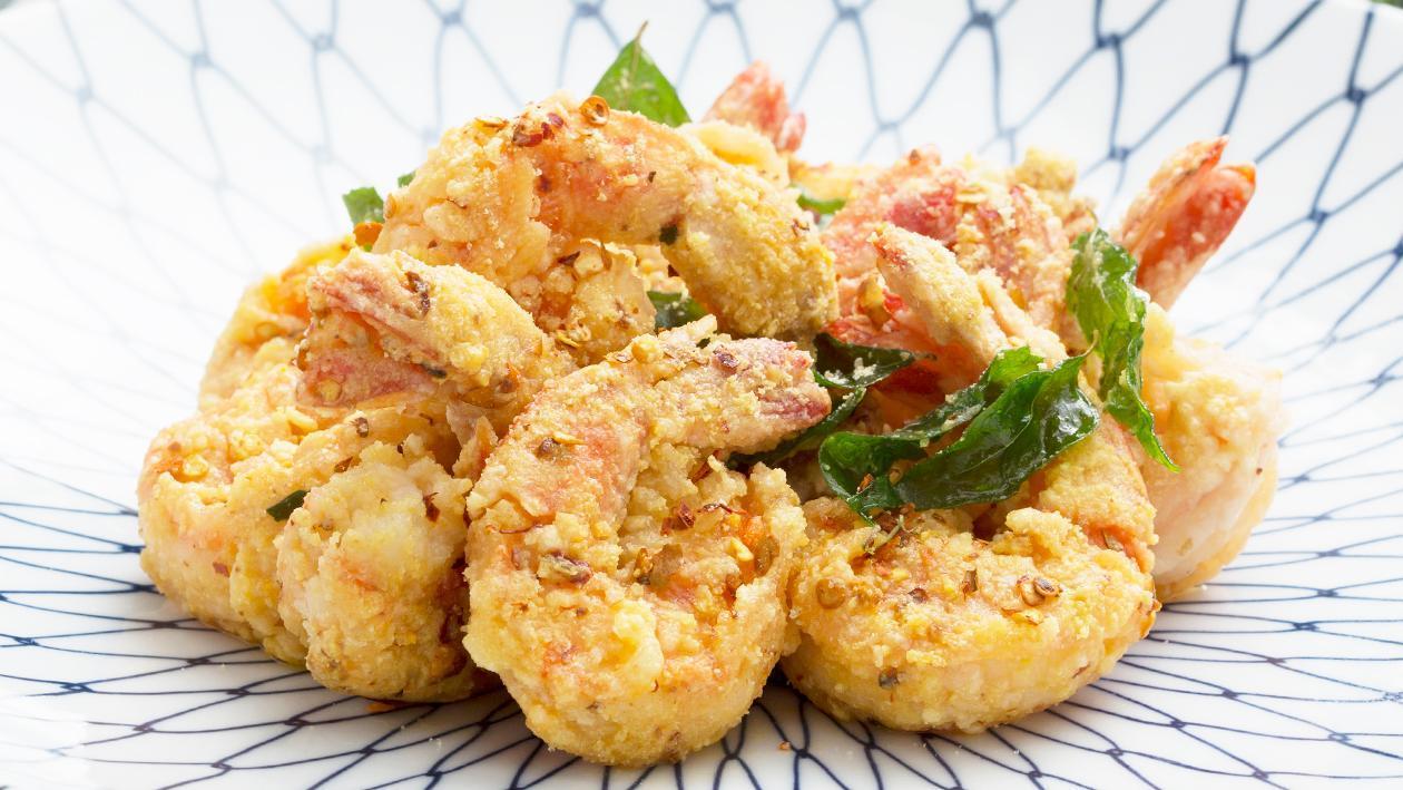Salted Egg Shrimp Poppers