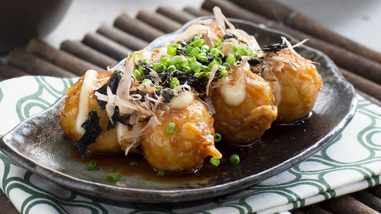 Squid Balls in Honey Miso Glaze