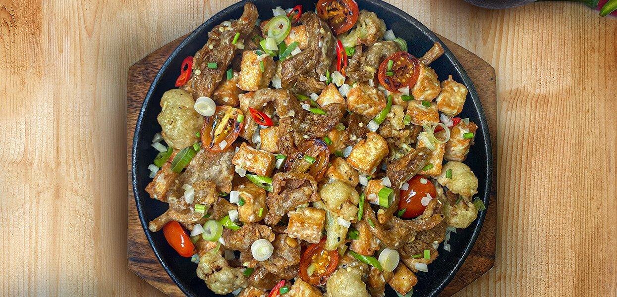 Tofu Mushroom Cauli Sisig