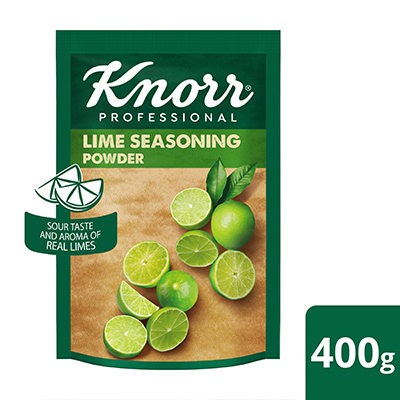 Knorr Lime Seasoning Powder (12x400g) - With Knorr Lime Seasoning, you can achieve the natural sourness and aroma of lime in an instant