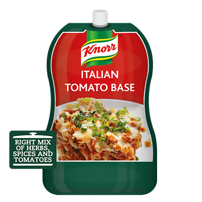 Knorr Professional Italian Tomato Base (12x700g) - Knorr Italian Tomato Base  helps the  cooks get it right every time