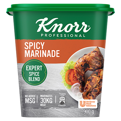 Knorr Professional Spicy Marinade (6X900g) - Knorr Professional Spicy Marinade is made with the perfect blend of spices that delivers a consistent spicy flavour to your dishes.