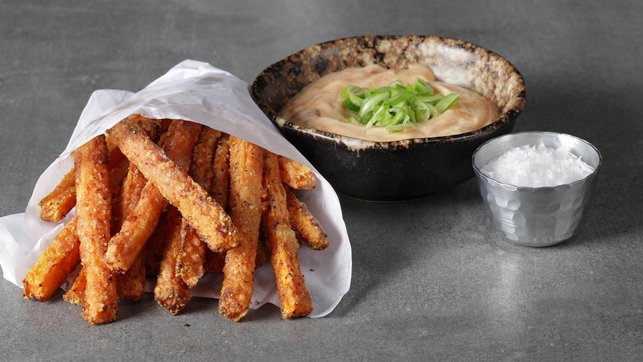 Baked Cheese Carrot Fries