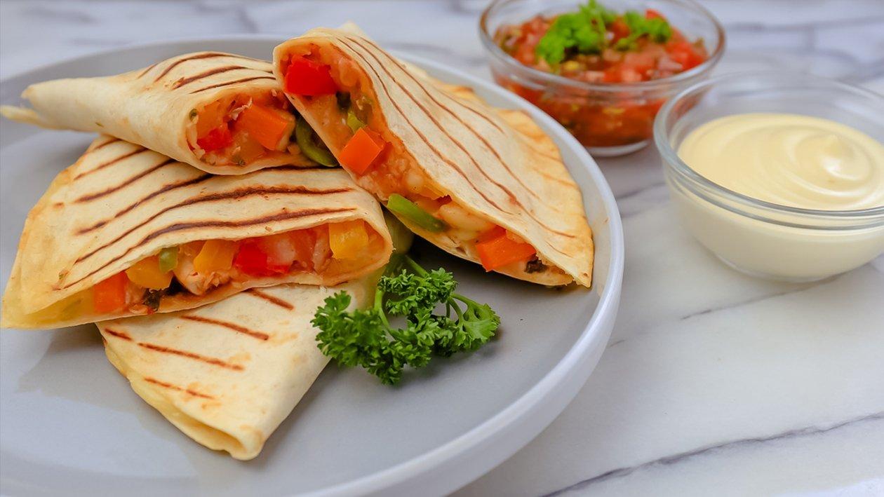Chicken Quesadillas with Garlic Mayonnaise