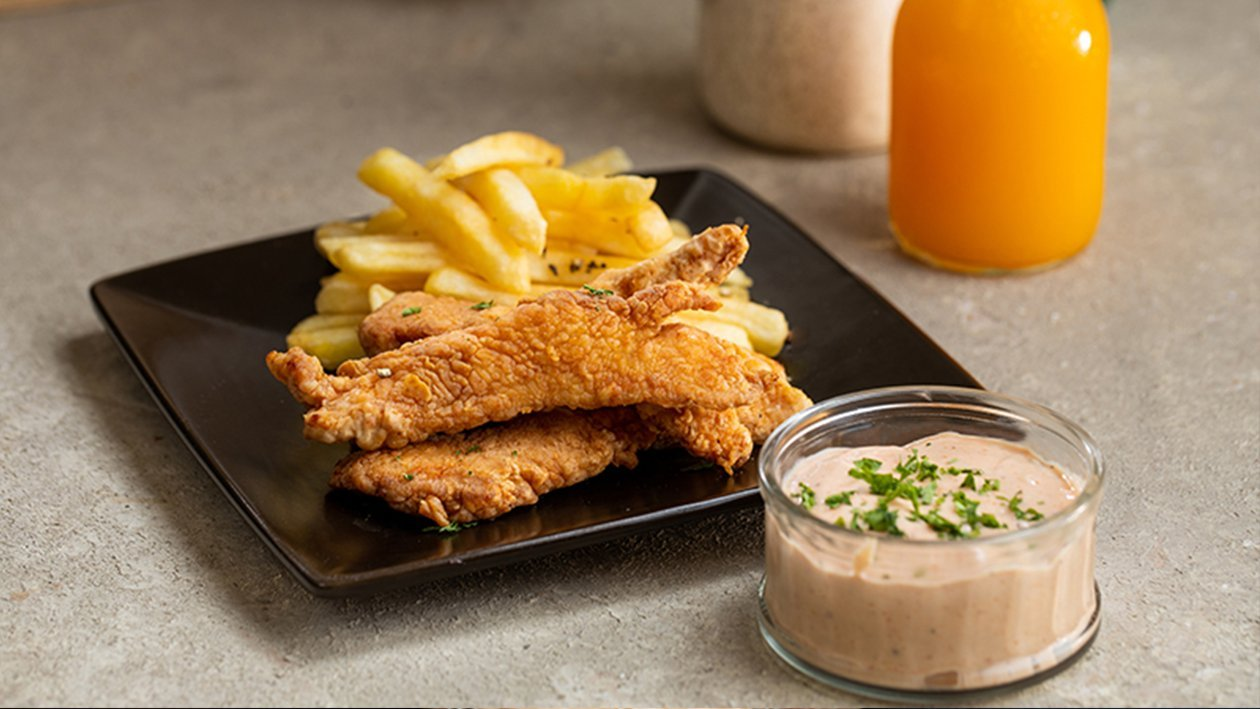 Chicken Strips with Fresca Sauce