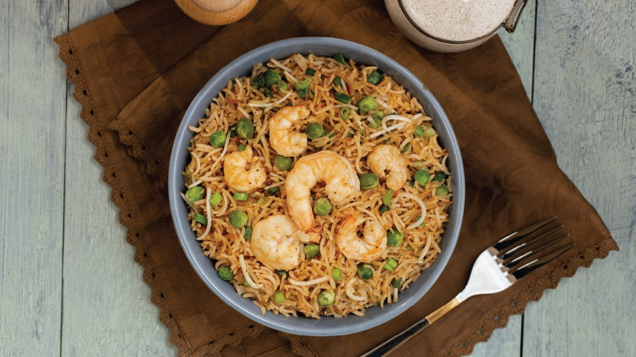 Chunky and Spicy Prawn Fried Rice