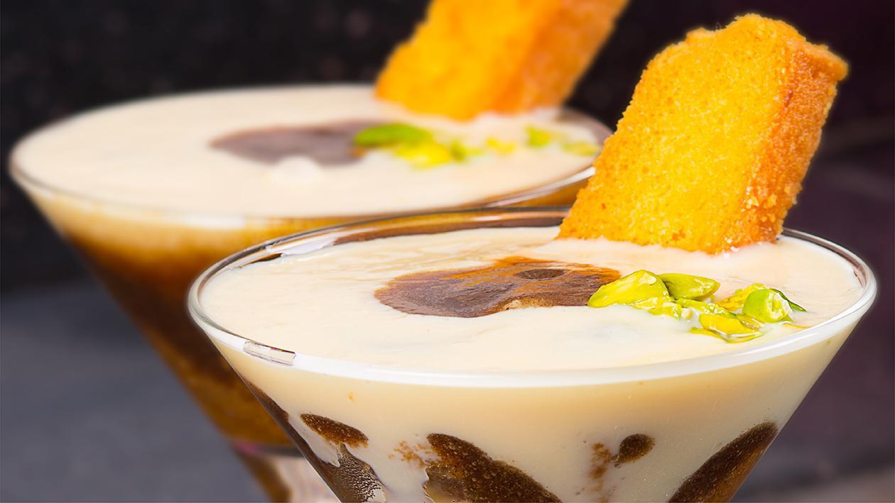 Date Caramel & Custard Parfait