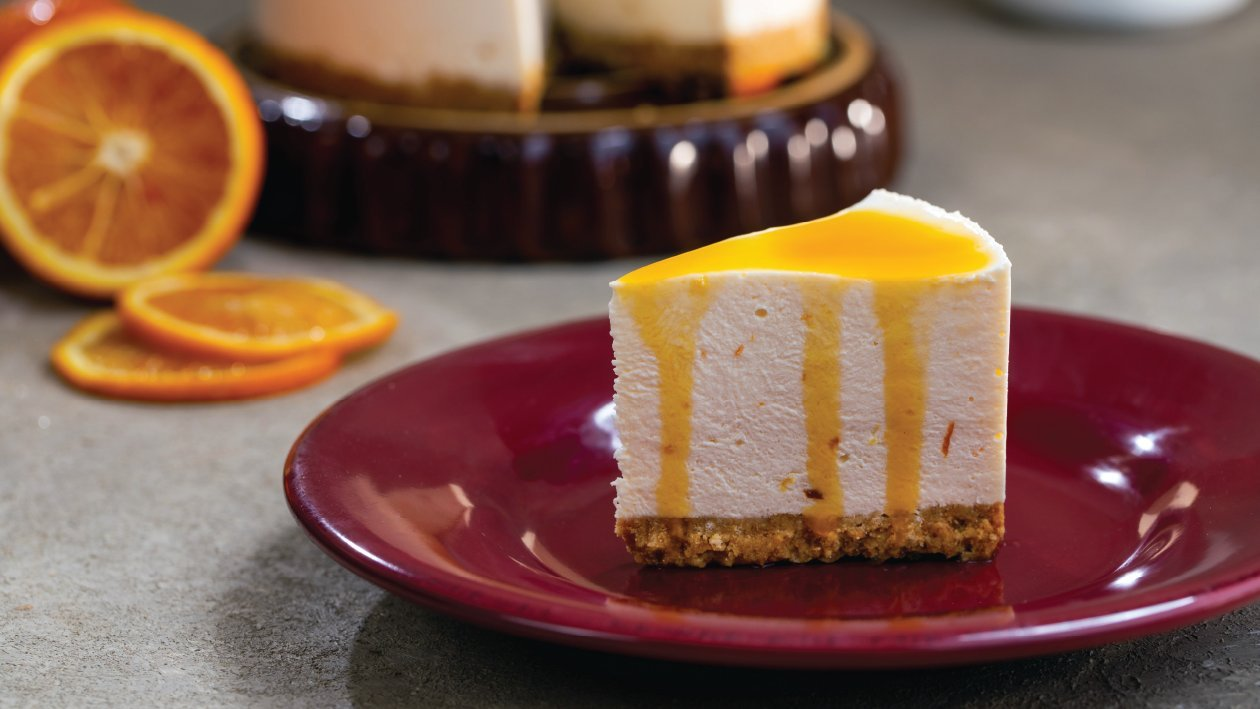 Orange Custard Cheese Cake