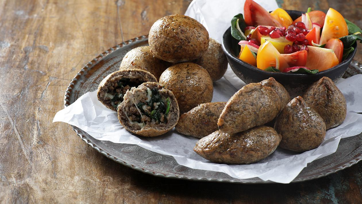 Potato, Spinach and Cheese Kibbeh