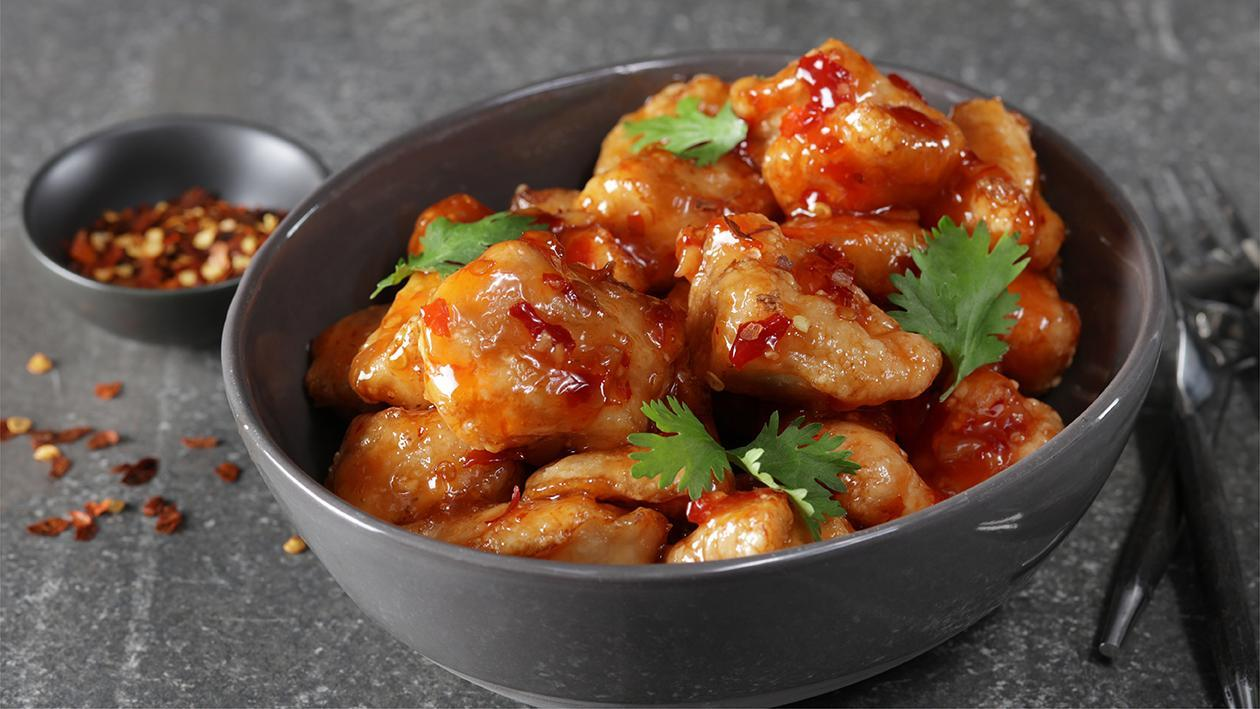 Sweet and Sour Chilli Chicken Poppers
