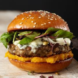Lentil and Pumpkin Chutney Burger