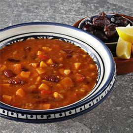 Moroccan Sweet Potato Harira Soup
