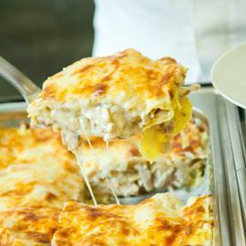 Shish Tawook Mushroom Lasagna