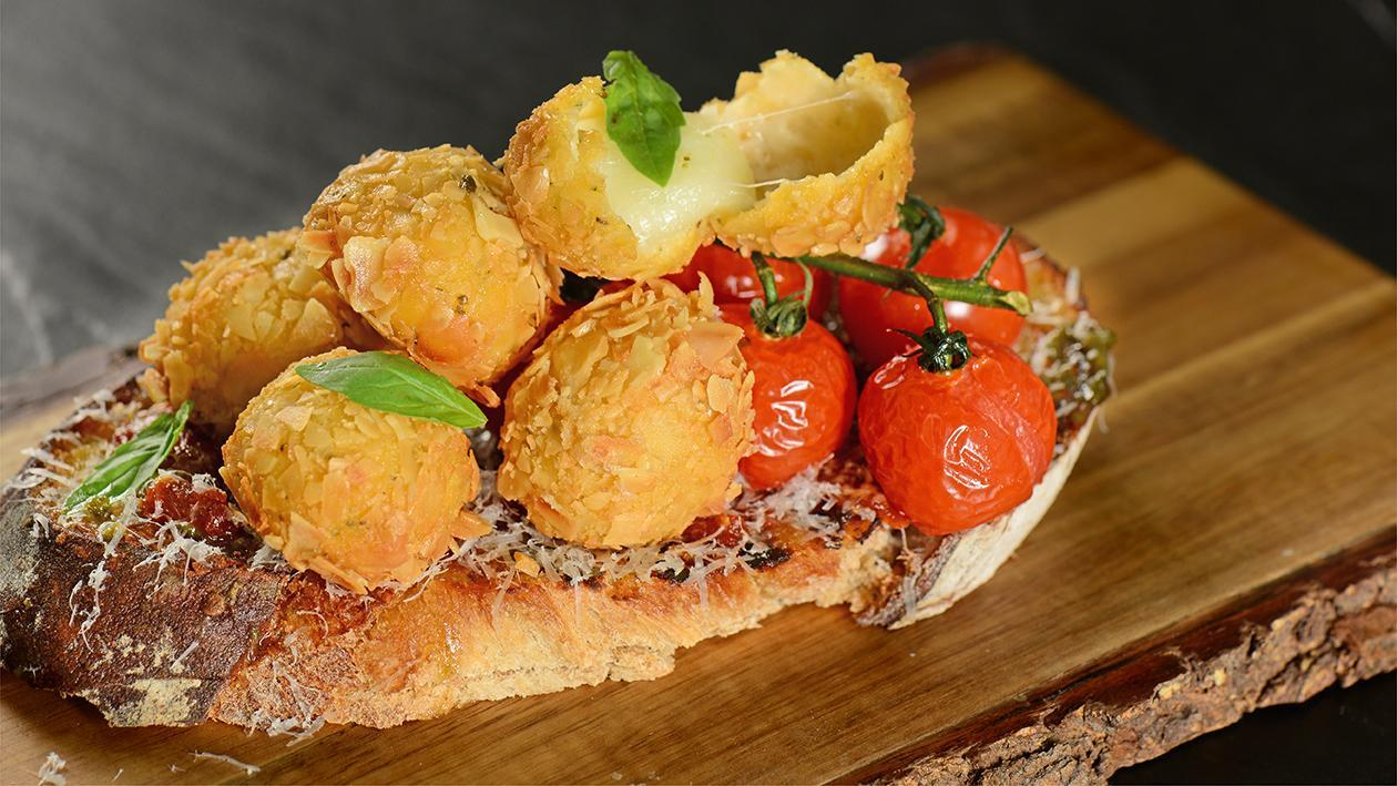Almond Caprese Bruschetta Recipe
