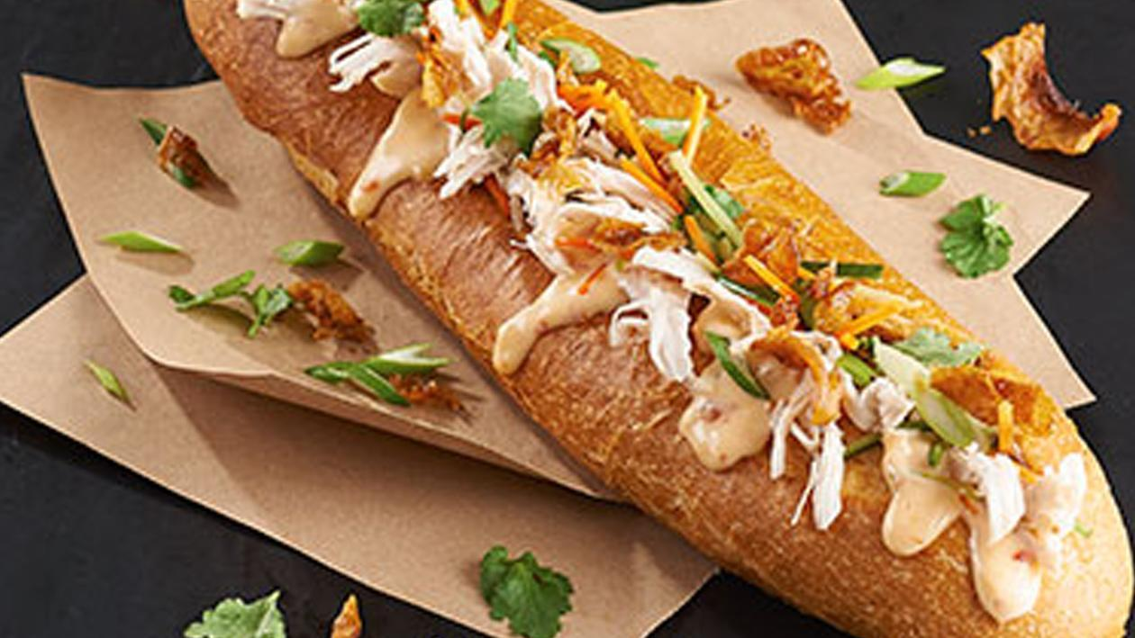 Chicken Po'Boy with Asian Vegtables Recipe