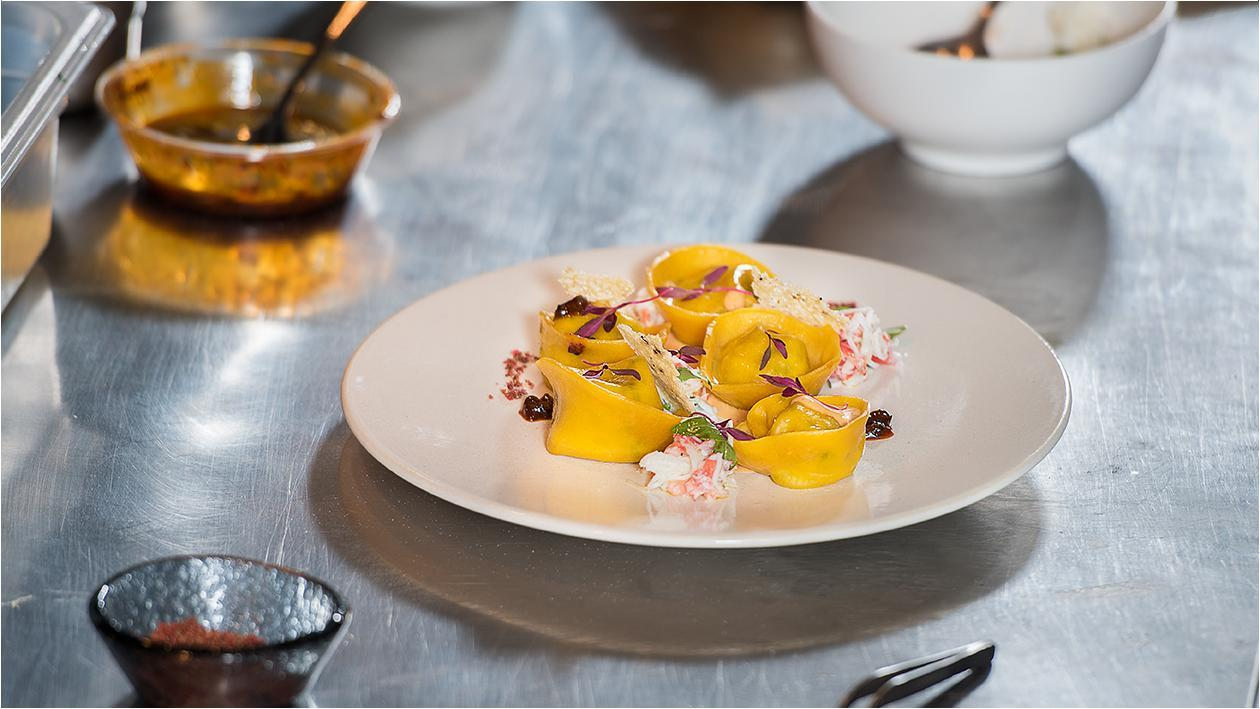 Crab Ravioli's – by Chef Stefano Ghielmetti