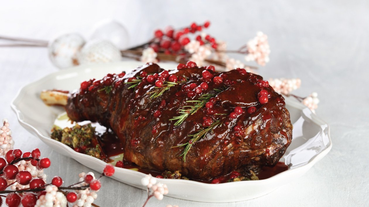Cranberry Date Leg of Lamb