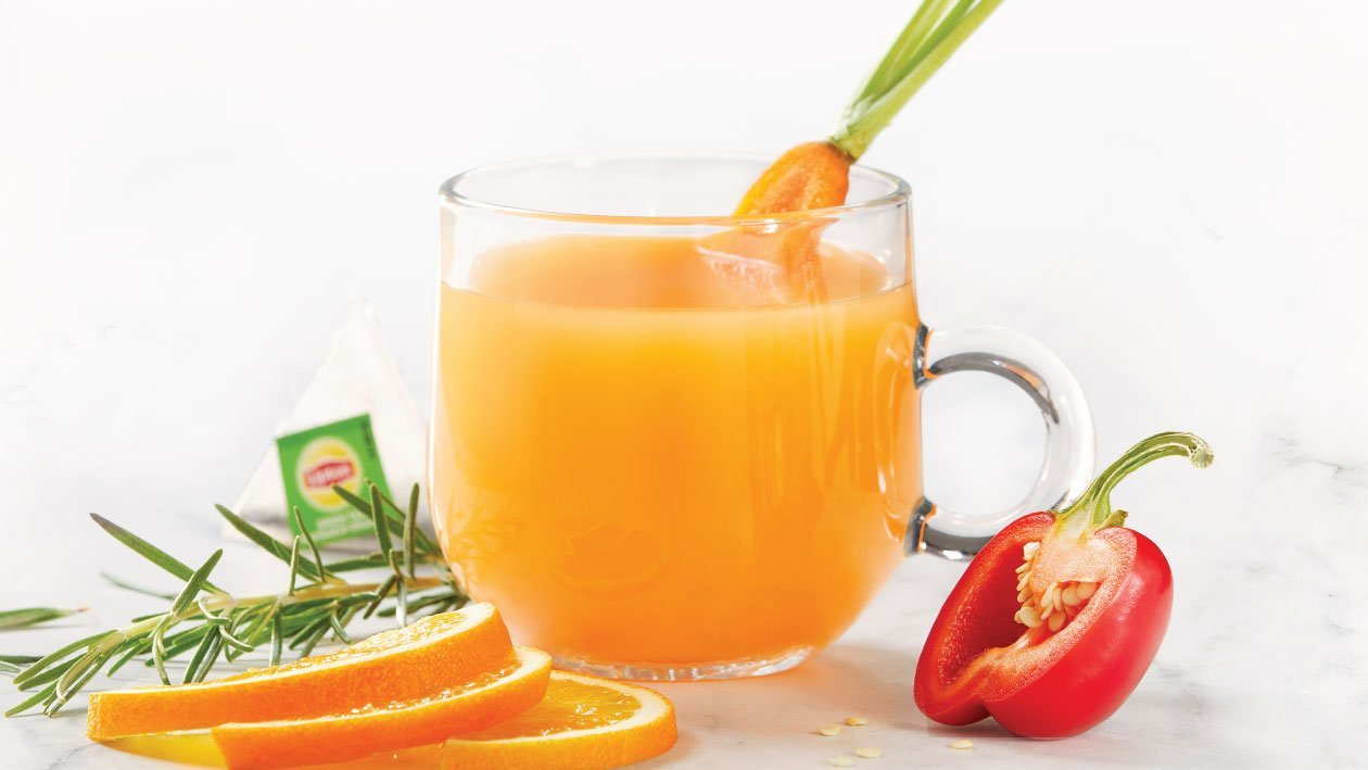 Green Tea Infused with Peppers and Carrots