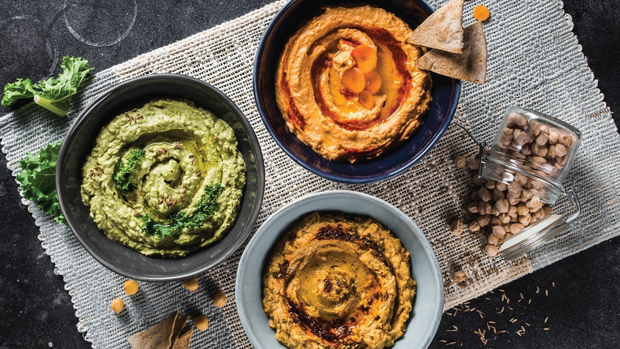 Hummus, 3 Different Ways