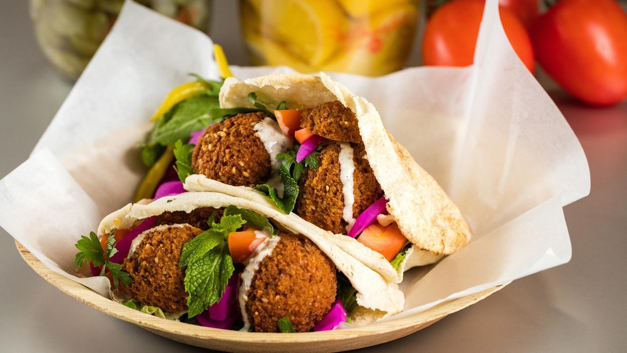Lebanese Style Falafel Sandwich