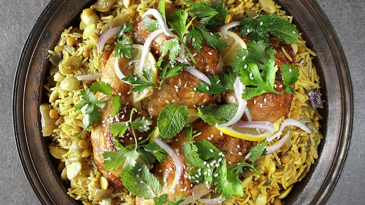Machboos (Chicken, Lamb, or Seafood) Recipe
