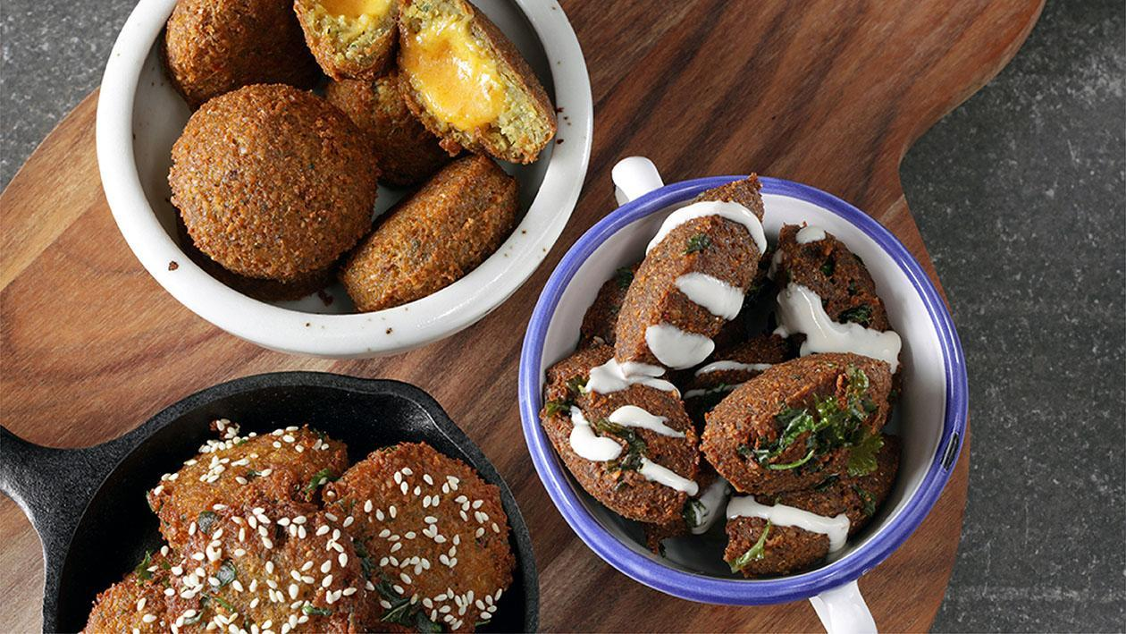 Middle Eastern Breakfast, 3 New Falafels