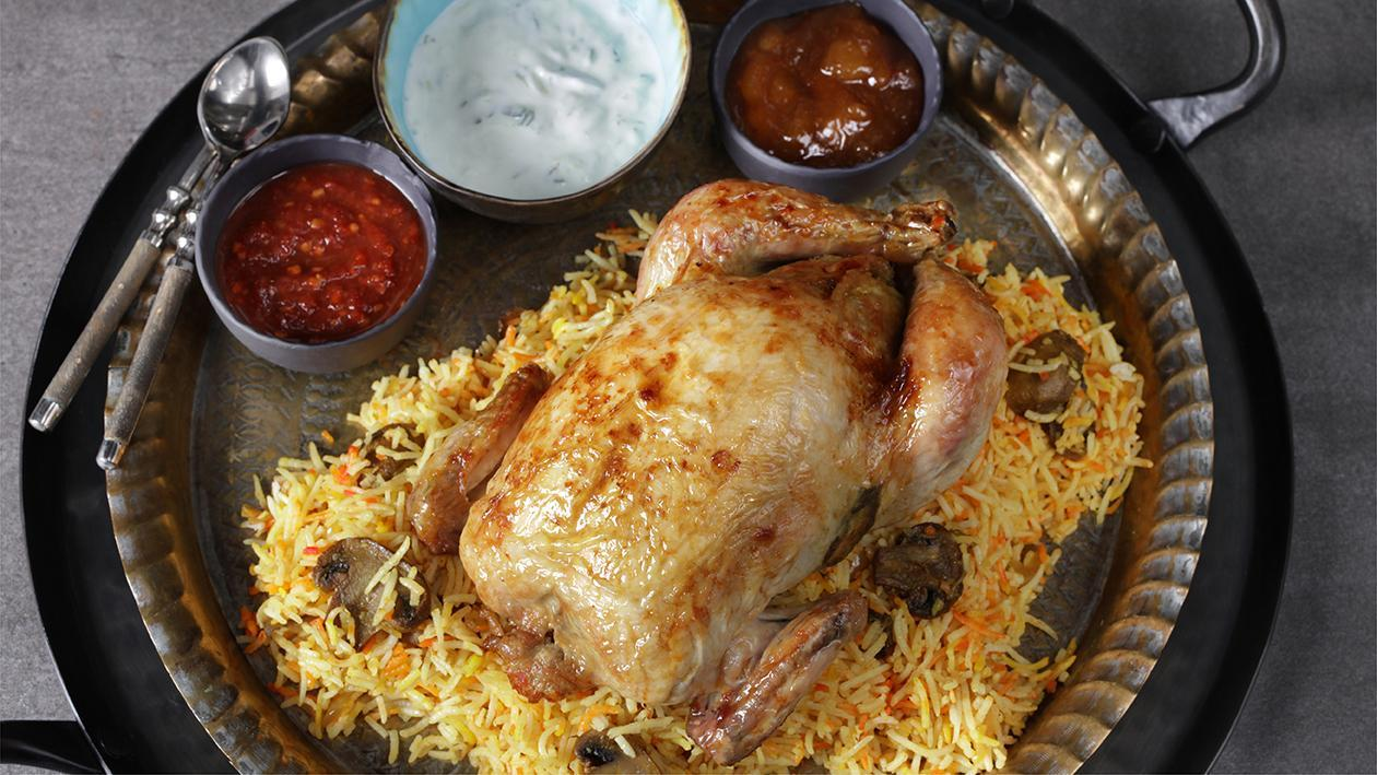 Mushroom Biryani Stuffed Chicken Recipe