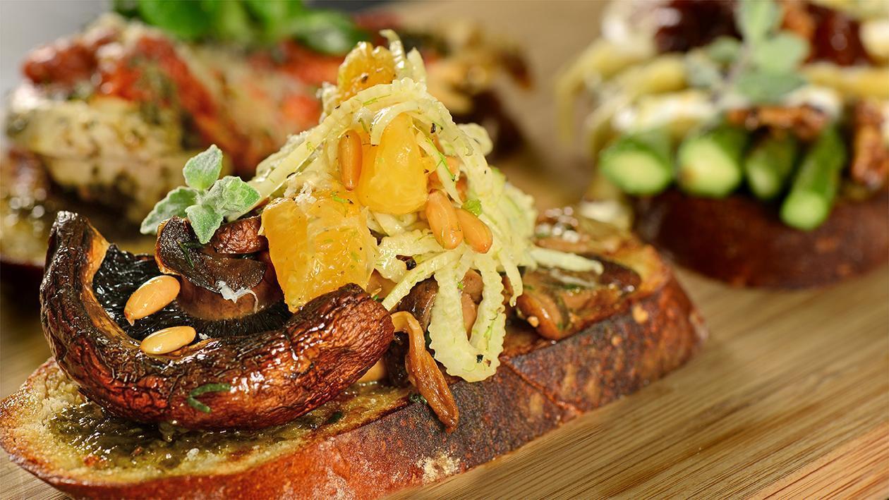 Mushroom & Fennel Bruschetta Recipe