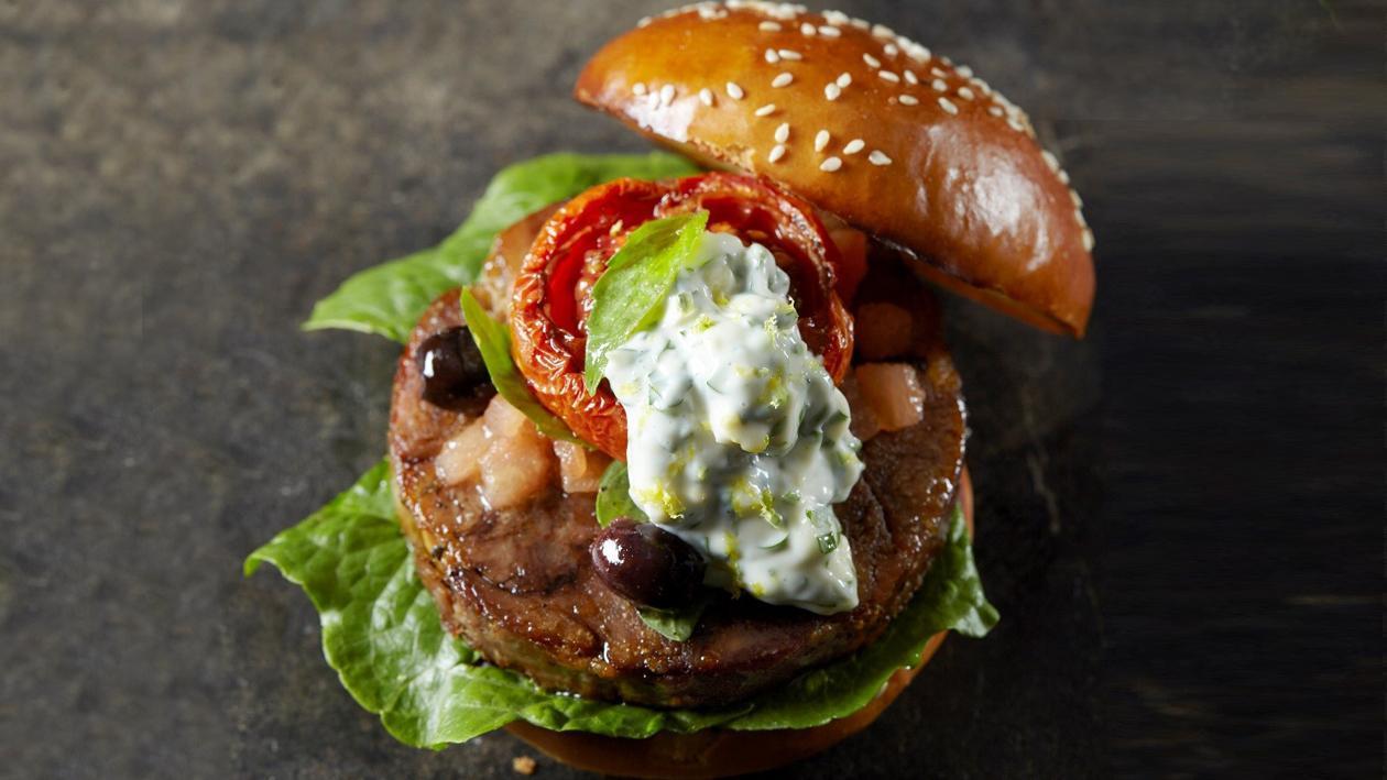 Ossobuco Burger with Gremolata Mayo