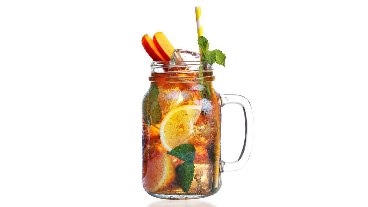 Peach Mint Lemon Iced Tea