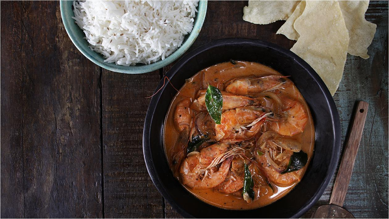 Prawn & Tomato Coconut Curry