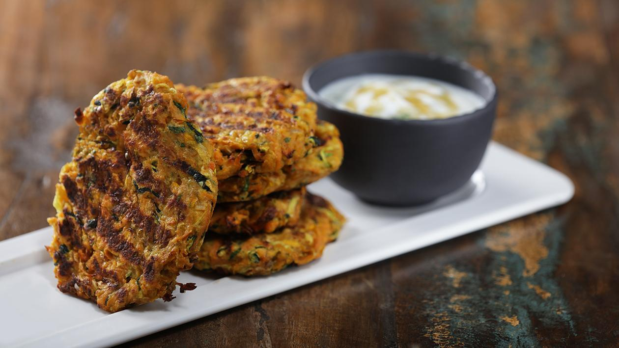 Ramadan Special: Zucchini Fritters with Yogurt Sauce Recipe