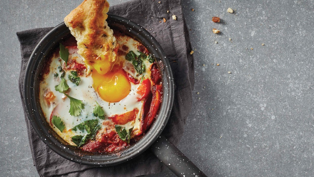 Shakshuka with Spinach Recipe