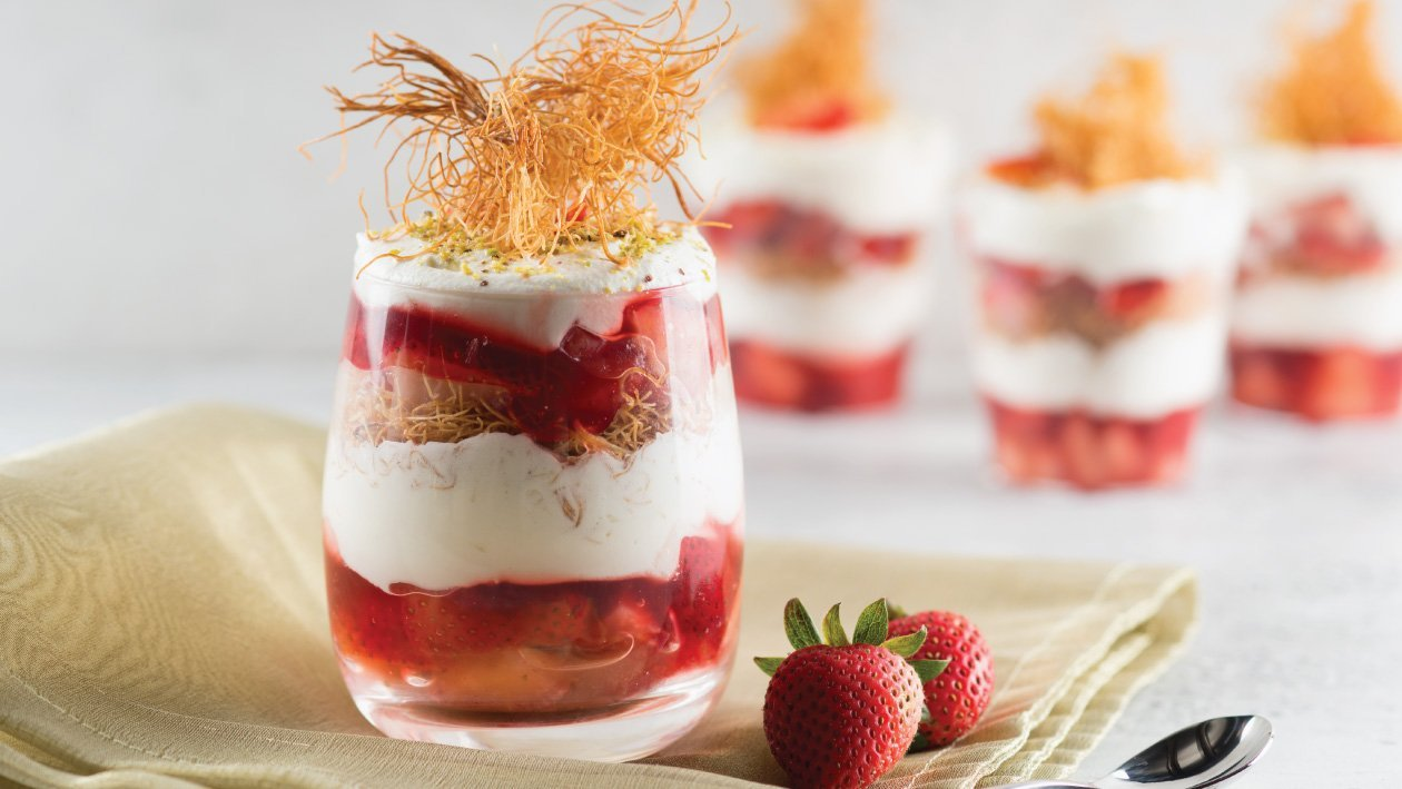 Strawberry & Orange Knafeh Parfait