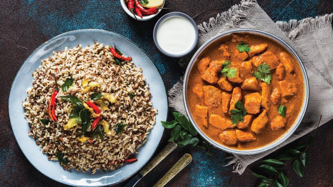 Super Quinoa Pilaf & Chicken Tikka Recipe