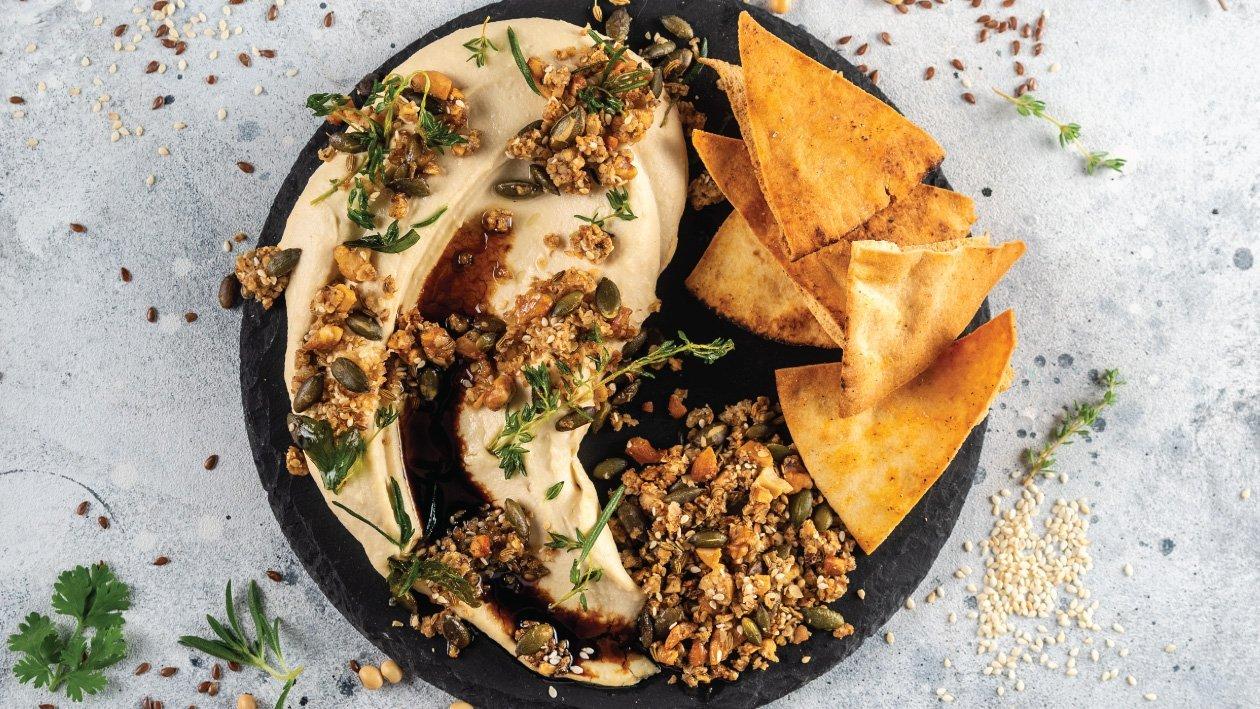 Tofu Hummus and Savoury Granola