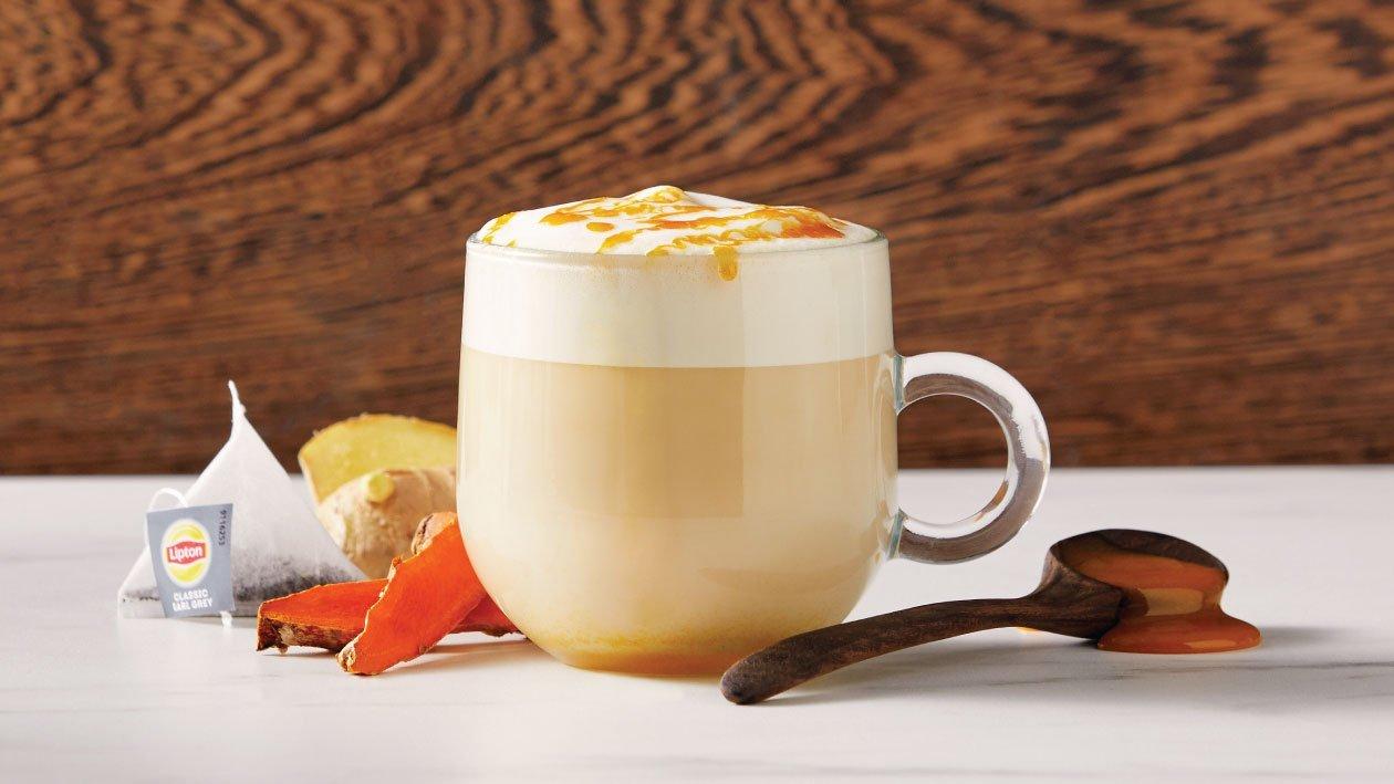 Turmeric and Honey infused Earl Grey Latte