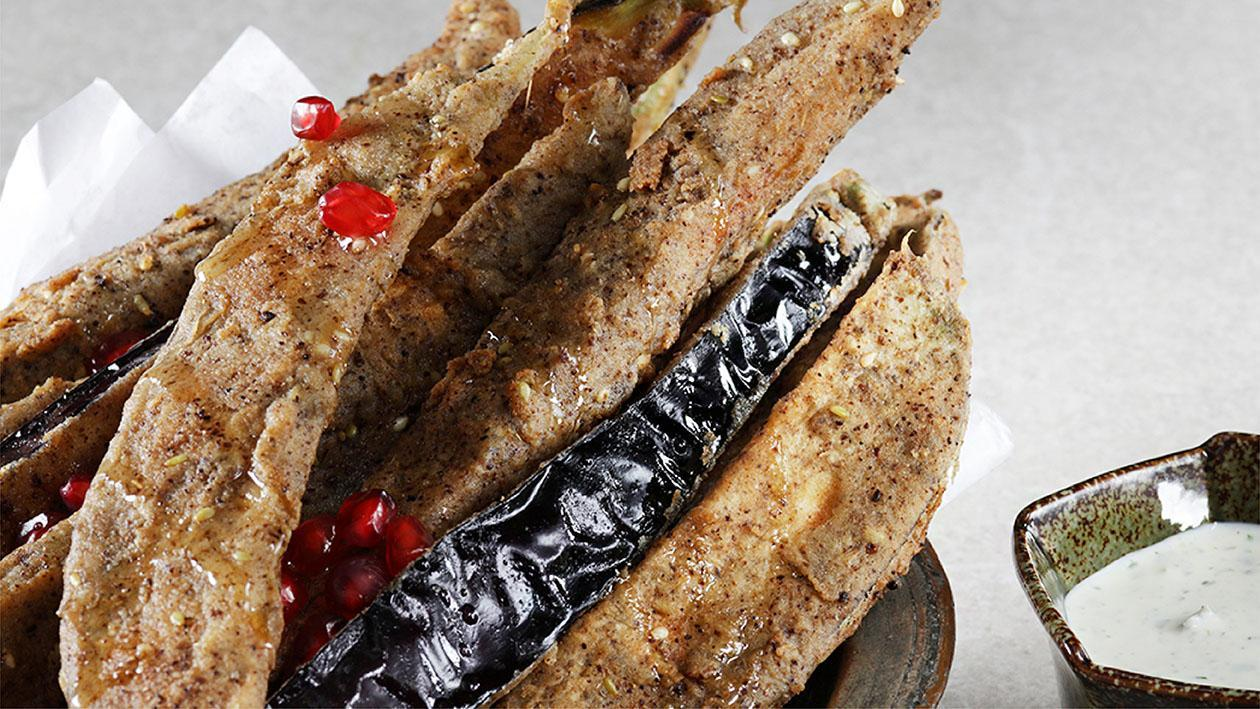 Zaatar Honey Aubergine Fries Recipe