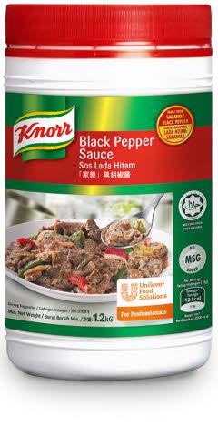 Knorr Black Pepper Sauce 1 2kg Unilever Food Solutions