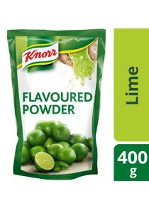 KNORR Lime Flavoured Powder 400g, dissolved in water -