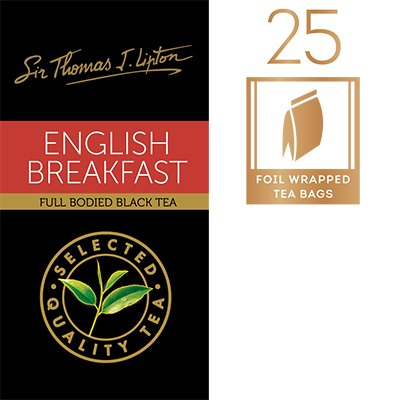 LIPTON Sir Thomas Lipton English Breakfast 25x2.4g