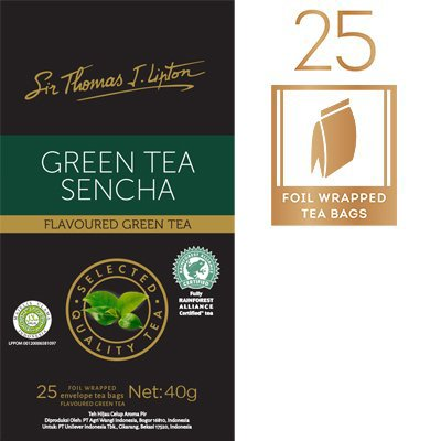 LIPTON Sir Thomas Lipton Green Tea Sencha 25x1.6g -