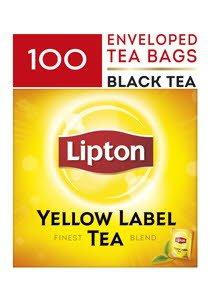 LIPTON Yellow Label Tea - Enveloped Tea Bags 100x2g -