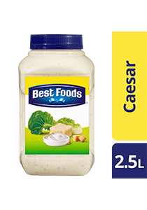 Best Foods Caesar Dressing 2.5L - Best Foods Caesar Dressing is made with real grated parmesan cheese to stay true to the authentic taste of this popular dressing.