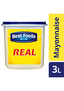 BEST FOODS Real Mayonnaise 3L - From the makers of the World's Number 1 Mayonnaise Brand, Best Foods Real Mayonnaise is trusted by chefs to deliver on taste and binding.*