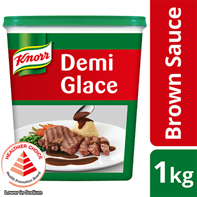 Knorr Demi Glace Brown Sauce Mix 1kg - Knorr Demi Glace delivers authentic roasted beef aroma in less time and cost.