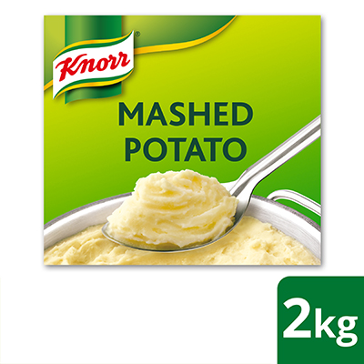 Knorr Mashed Potato 2kg - Knorr Mashed Potato is created with 99% real potatoes to give you authentic potato taste in just a few minutes.